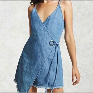 Wrap Chambray Dress